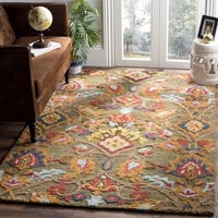 Safavieh Handmade Blossom Green / Multicolored Wool Rug - 6' x 9'