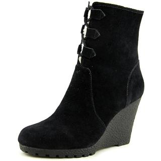 Michael Kors Women's 'Rory Boot' Black Suede Wedge Boots