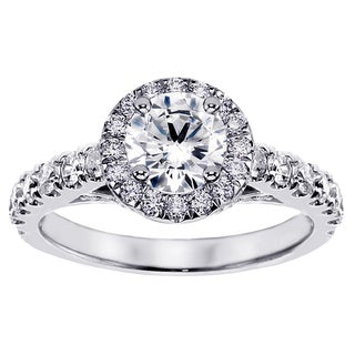 14k or 18k White Gold 2 2/5ct TDW Brilliant-cut Large Diamond Engagement Ring