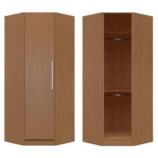 Manhattan Comfort Chelsea Brown Wood 36.22-inch Wide 1-door Corner Closet