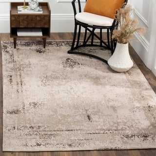 Safavieh Classic Vintage Anthracite Cotton Abstract Distressed Rug (5' x 8')
