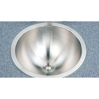 Houzer Opus Satin Finish Stainless Steel 18-gallon Single Basin Drop-in Bathroom Sink Bowl