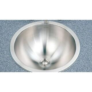 Houzer Club Houzer Opus Lavatory 18-gauge 6.25-inch Deep Stainless Steel Conical Bowl Single Sink CRT-1620-1
