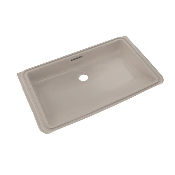 Shop toto rectangular undermount bathroom sink with cefiontect lt191g 03 bone free shipping Toto undermount bathroom sinks