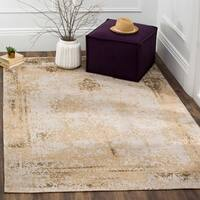Safavieh Classic Vintage Sand Cotton Abstract Distressed Rug - 5' x 8'