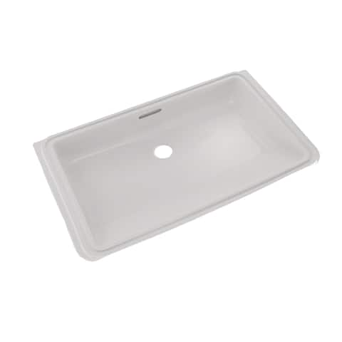Toto Rectangular Undermount Bathroom Sink with CeFiONtect, Colonial White (LT191#11)