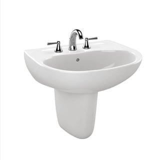 Toto Supreme Cotton White Porcelain 1-hole Lavatory Sink