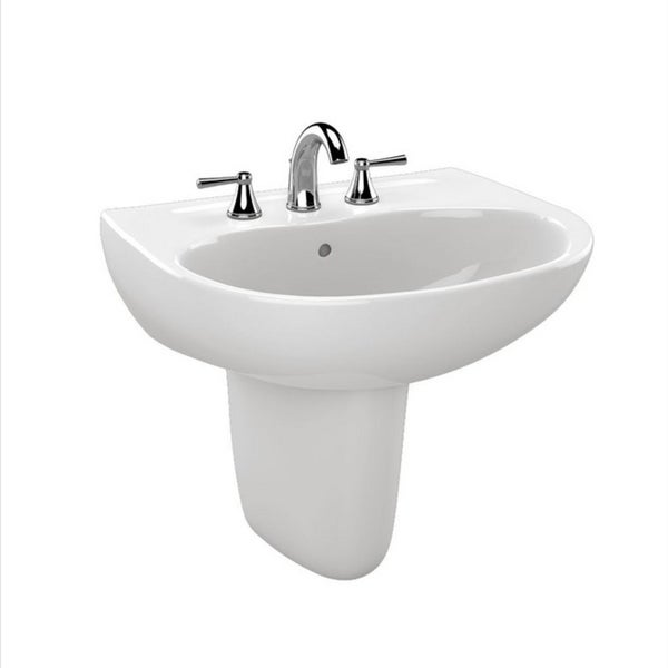 Toto Supreme Cotton White Porcelain 1-hole Lavatory Sink - Free ...