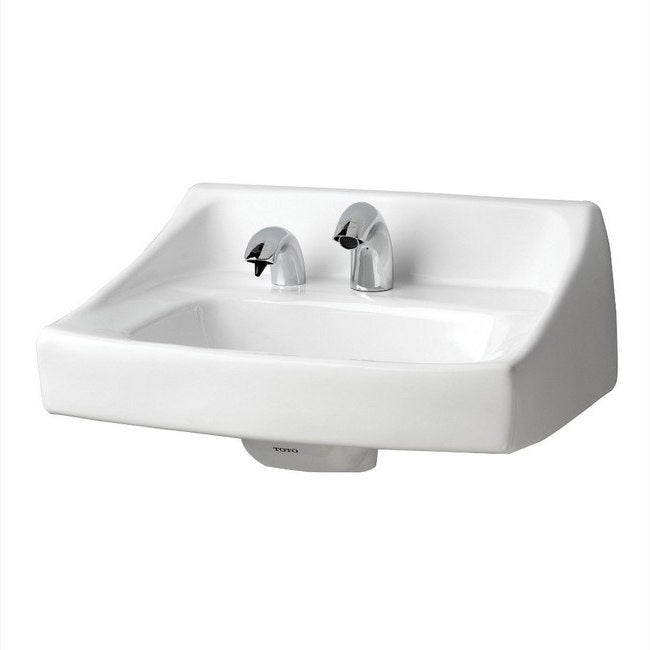 Toto White Porcelain Single Hole Wall Mount Lavatory with...