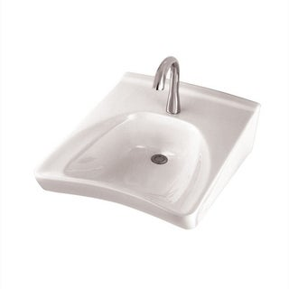 Toto Cotton White Vitreous China 4 Inch Center Hole Wall Mount ADA Compliant