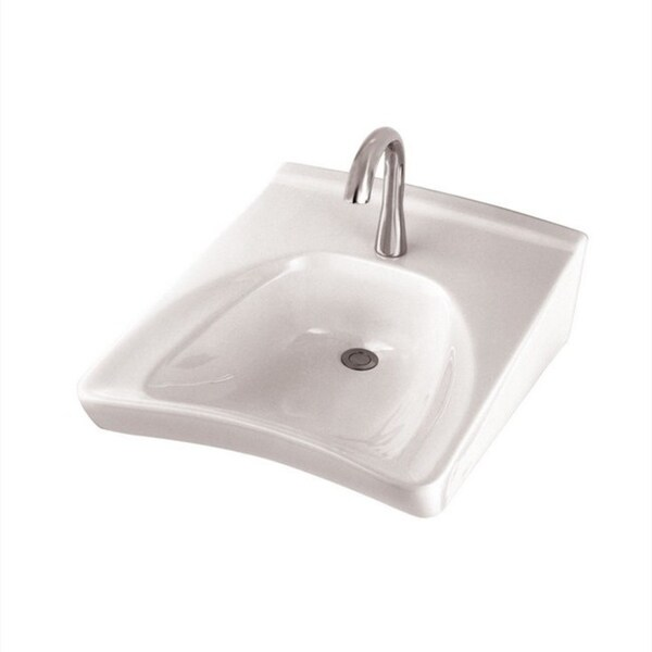 Shop Toto Wall Mount Porcelain Bathroom Sink LT308.4#01 Cotton White Ada Kitchen Sinks White Porcelain on white porcelain vessel sink, white kitchen sinks that do not scratch, white porcelain floor, white porcelain pedestal sink, white porcelain bowl, white porcelain paint, white porcelain double sink, white porcelain christmas, white porcelain bathroom, white porcelain apron sink, white single bowl sink, white porcelain undermount sink, white porcelain trough sink, white porcelain toilet, white porcelain bidet, white porcelain mirror, white undermount kitchen sinks, white porcelain bath sink, white porcelain faucet, white porcelain shower,
