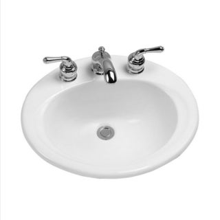 Toto White Porcelain Single-basin Oval Bathroom Sink