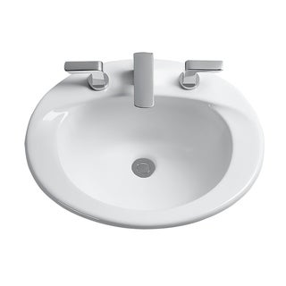 Toto Supreme Cotton White Porcelain Self-rimming Bathroom Sink