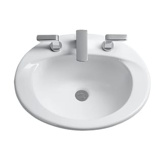 Toto Supreme White Porcelain 8-inch Center Self-rim Lavatory Sink