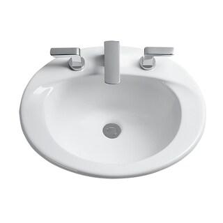 Toto Supreme White Porcelain 8-inch Center Self-rim Lavatory Sink