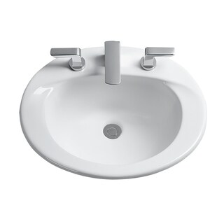 Toto Supreme White Porcelain 8 Inch Center Self Rim Lavatory Sink
