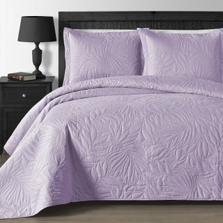 Comfy Bedding Foliage Thermal Pressing 3-piece Oversized Coverlet Set