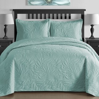 Comfy Bedding Foliage Thermal Pressing 3-piece Oversized Coverlet Set (More options available)