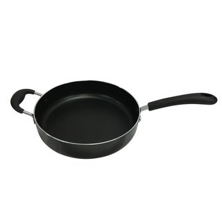 Wee's Black Aluminum Heavy-duty Non-stick Jumbo Cooker / Saute Pan