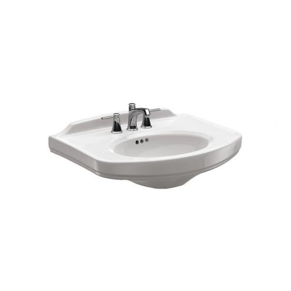 Toto Dartmouth White Porcelain Pedestal Lavatory Single-hole Sink LT642#01