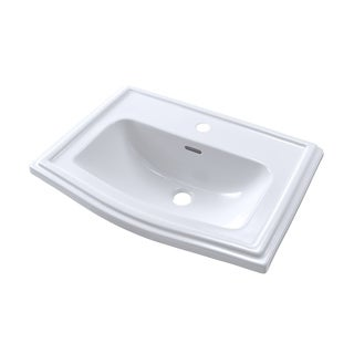 Toto Clayton Cotton White Porcelain 1-hole Self-rimming Bathroom Sink