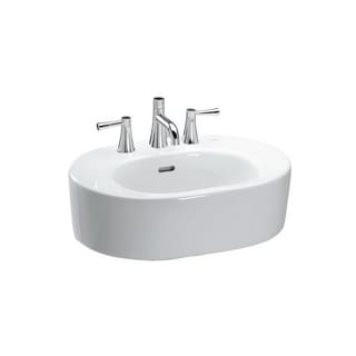 Toto Nexus White Porcelain Pedestal Lavatory Single-hole Sink