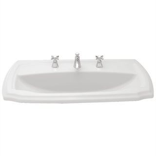 Toto Guinevere Cotton White Vitreous China Self-rimming Single-hole Bathroom Sink