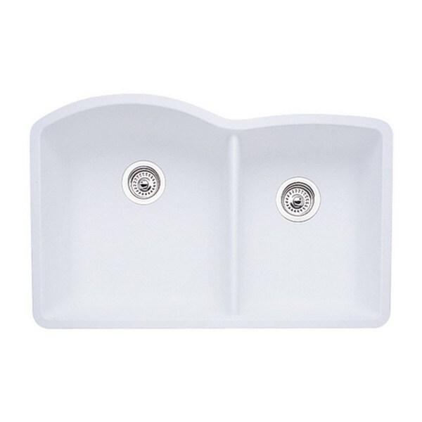 Blanco Silgranit White : Blanco Diamond Silgranit II White 80-percent Granite 1.75-bowl ...