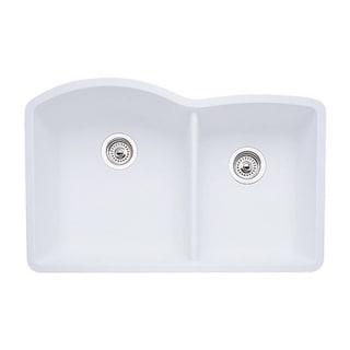 Blanco Diamond Silgranit II White 80 Percent Granite 1.75 Bowl Undermount  Kitchen Sink