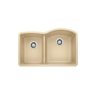 Blanco Diamond Biscotti Granite Low-divide Undermount Double-basin Kitchen Sink