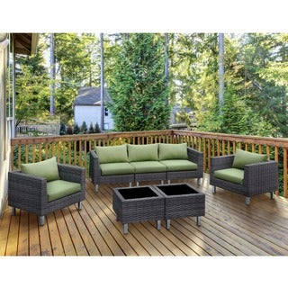 Furniture of America Baja Contemporary 7-piece Weather Resistant Patio Seating and Table Set