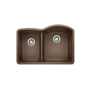 Blanco Diamond Cafe Brown Granite Low Divide Undermount Reverse Sink