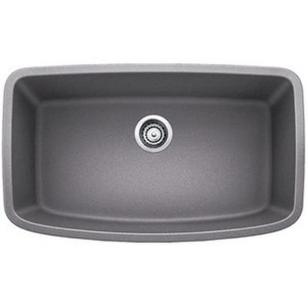 Blanco Valea Metallic Grey 1.0 Super Single Bowl Undermount Sink