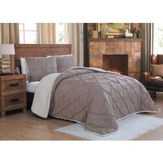 Avalanche Chandler Sherpa 3-piece Comforter Set