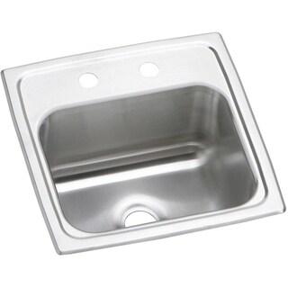 Elkay 20-gauge Stainless Steel 15-inch x 15-inch x 6.125-inch Single-bowl Top-mount Bar/Prep Sink