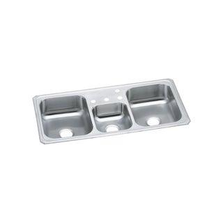Elkay Stainless Steel Triple-bowl Top-mount Kitchen Sink