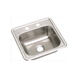 Elkay 23-gauge Stainless Steel 15 x 15 x 5.15625-inch Single-bowl Top-mount Bar/Prep Sink