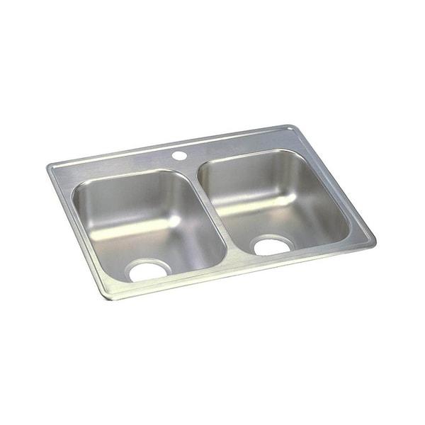 Beau Elkay Dayton Stainless Steel Equal Double Bowl Top Mount Sink D225191