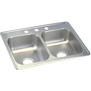 Elkay 22-gauge Stainless Steel 25-inch x 19-inch x 6.25-inch Double-bowl Top-mount Kitchen Sink