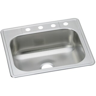 Elkay 22 Gauge Stainless Steel 25-inch x 22-inch x 7.0625-inch Single Bowl Top Mount Kitchen Sink