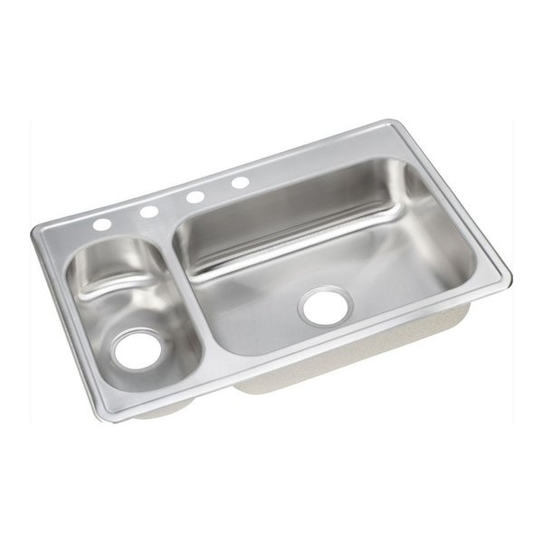 Elkay 22-gauge Stainless Steel Double Bowl Top Mount Kitchen Sink ...