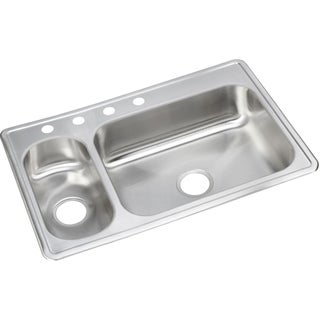Elkay 22-gauge Stainless Steel Double Bowl Top Mount Kitchen Sink