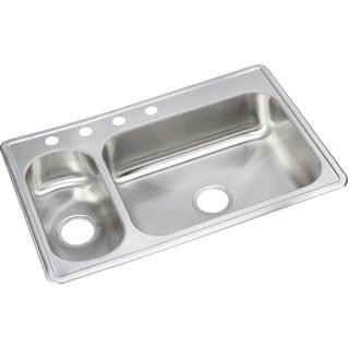 Elkay 22-gauge Stainless Steel Double Bowl Top Mount Kitchen Sink - Silver