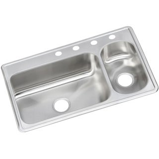 Elkay 22-gauge Stainless Steel 33-inch x 22-inch x 6.5-inch Double-bowl Top-mount Kitchen Sink