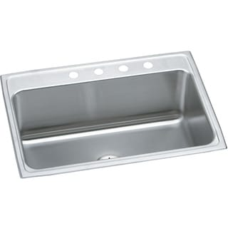 Elkay 18-gauge Stainless Steel 31 x 22 x 10-inch Single Bowl Top Mount Kitchen Sink with 1 Faucet Hole
