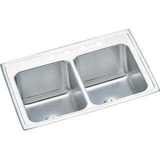 Elkay 18-gauge Stainless Steel 33-inch x 22-inch x 10.125-inch Double-bowl Top-mount Kitchen Sink Kit