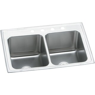 Elkay Stainless Steel 18-gauge Double-bowl Top-mount Kitchen Sink