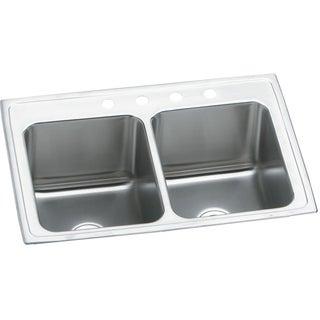 Elkay 18-gauge Stainless Steel 37-inch x 22-inch x 10.125-inch Double-bowl Top-mount Kitchen Sink