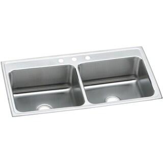 Elkay 18-gauge Stainless Steel 43-inch x 22-inch x 10.125-inch Double Bowl Top Mount Kitchen Sink