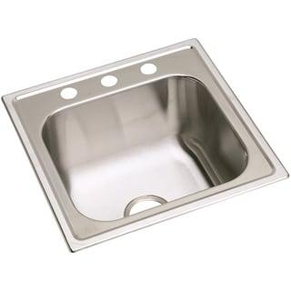 Elkay 20-gauge Stainless-steel 20-inch x 20-inch x 10.15625-inch Single-bowl Top-mount Laundry/Utility Sink